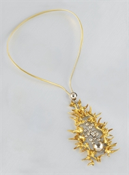 An unusual sculptural pendant