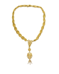 A GOLD NECKLACE, BY TABBAH