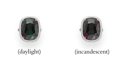 AN EXCEPTIONAL ALEXANDRITE AND