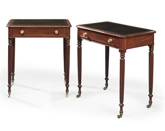 A PAIR OF REGENCY MAHOGANY CHA