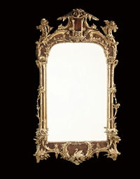 AN ENGLISH CARVED GILTWOOD AND