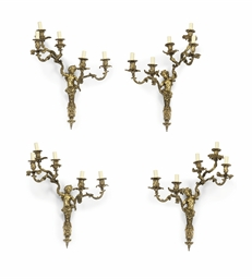 A SET OF FOUR FRENCH ORMOLU FI