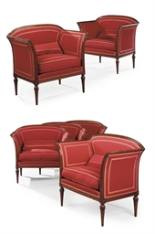 A SET OF FOUR DIRECTOIRE MAHOG