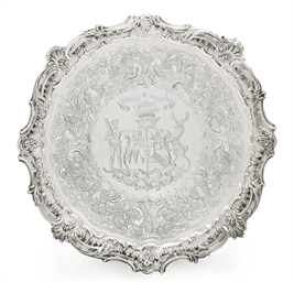 A WILLIAM IV SILVER SALVER