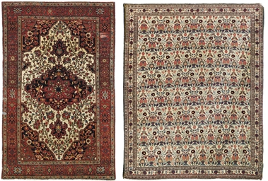 A SAROUK RUG AND A ZILI SULTAN