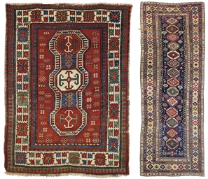 A KAZAK RUG AND A SHIRVAN RUNN