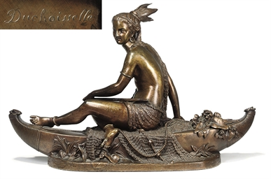 A FRENCH BRONZE STATUETTE OF P