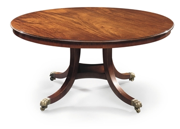 A MAHOGANY DINING-TABLE
