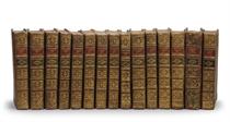 [COOK] -- HAWKESWORTH. Relation des voyages entrepris pas ordre de Sa Majesté britannique... Paris: Saillant et Nyon, Panckoucke, 1774. 4 volumes. --COOK, James. Voyage dans l'hémisphère austral, et autour du monde... Paris: Hôtel de Thou, 1778. 5 volumes. --Troisième voyage de Cook, ou Voyage à l'océan Pacifique... Ibid.: id., 1785. 4 tomes en 5 volumes. --KIPPIS. Vie du capitaine Cook. Ibid.: id., 1789. Un volume.