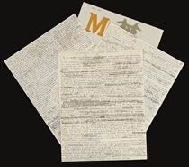 """BRETON, André (1896-1966). Triomphe de l'art gaulois. Manuscrit autographe signé, daté """"Paris, 14 juin 1954""""."""