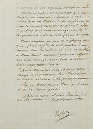 NAPOLÉON Ier (1769-1821). Ordr