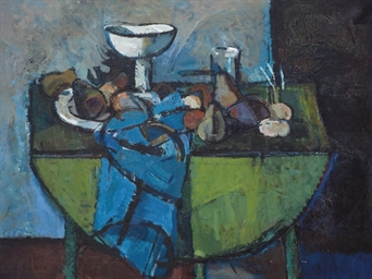 Still Life on a Green Table