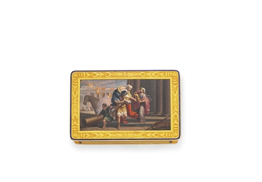 A MICROMOSAIC AND GOLD SNUFF B