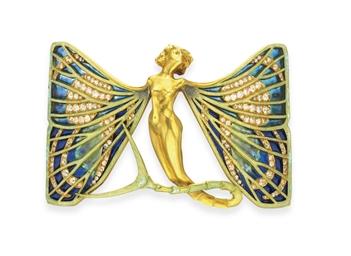 An Art Nouveau Enamel Diamond And Gold Quot Sylph Quot Dog Collar