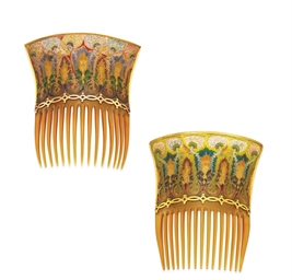**A PAIR OF ART NOUVEAU TORTOI