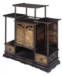 A JAPANESE LACQUERED CABINET