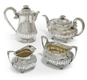 A GEORGE IV SILVER FOUR-PIECE