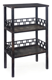 A CHINESE HARDWOOD THREE TIER