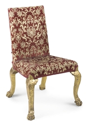 A PARCEL-GILT CHAIR