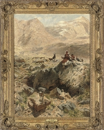 Shepherds resting in the mount