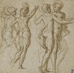 Quatre hommes armés et casqués