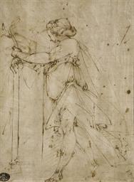 Femme drapée, vue de profil ve