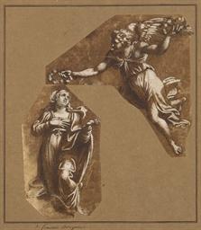 La Vierge couronnée par un ang