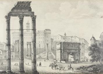 Vue du Forum à Rome, avec les