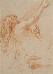 Femme nue agenouillée, le corp