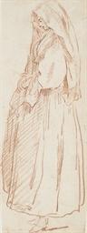 Jeune femme portant un voile,