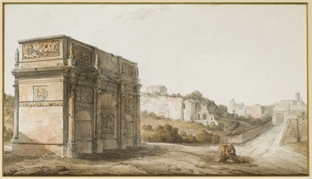 L'arc de Constantin et la Via