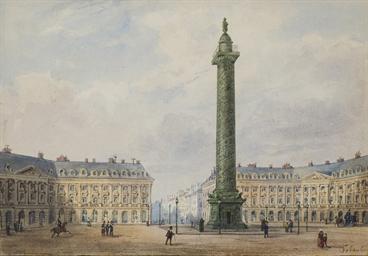 Vue de la place Vendôme à Pari