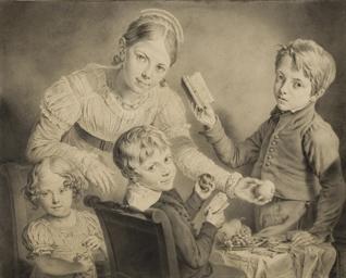 Des enfants autour d'une table