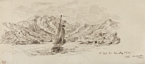 Un bateau à voiles au large de