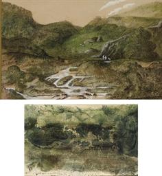 Une rivière dans une vallée, d