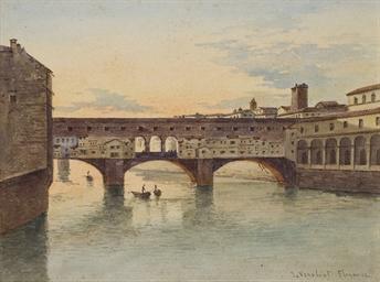 Vue du Ponte Vecchio à Florenc