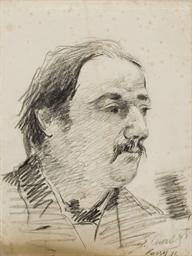 Portrait d'un homme moustachu,