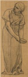 Femme tenant une écuelle