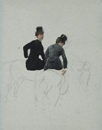 Deux femmes à cheval