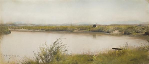 Vue d'un lac dans la campagne