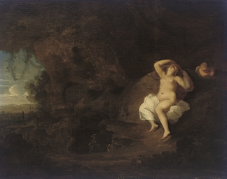 Sleeping Venus and Cupid, in a