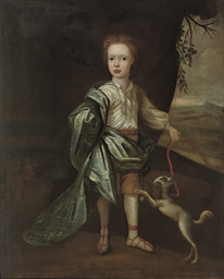 Portrait of a young boy, full-