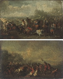 A cavalry skirmish; and A cava