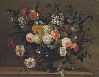Roses, carnations, morning glo