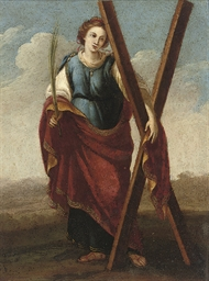 A Female Saint with a palm in