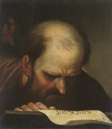 Saint Luke reading