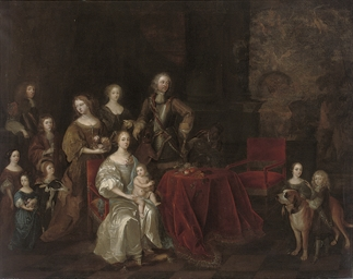 Portrait of a family, full-len
