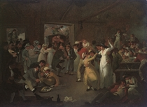 Sailors carousing in the Long Room at Portsmouth