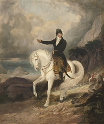 Equestrian portrait of the Duk