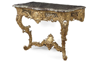 A SOUTH-GERMAN GILTWOOD CONSOL